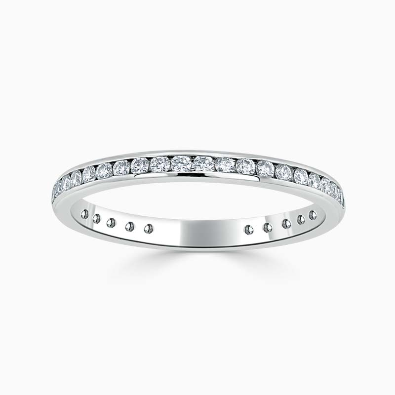 Platinum 2.00mm Round Brilliant Channel Set Three Quarter Eternity Ring