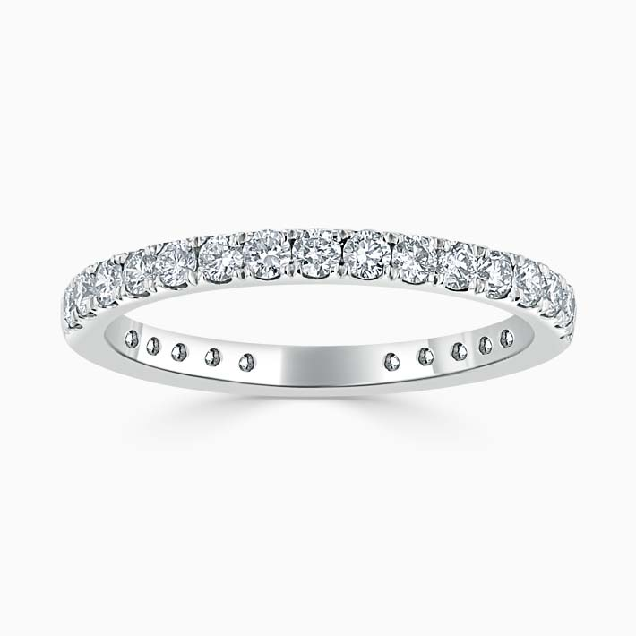 Platinum 2.00mm Round Brilliant Cutdown Set Three Quarter Eternity Ring