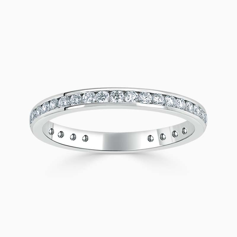 Platinum 2.25mm Round Brilliant Channel Set Three Quarter Eternity Ring