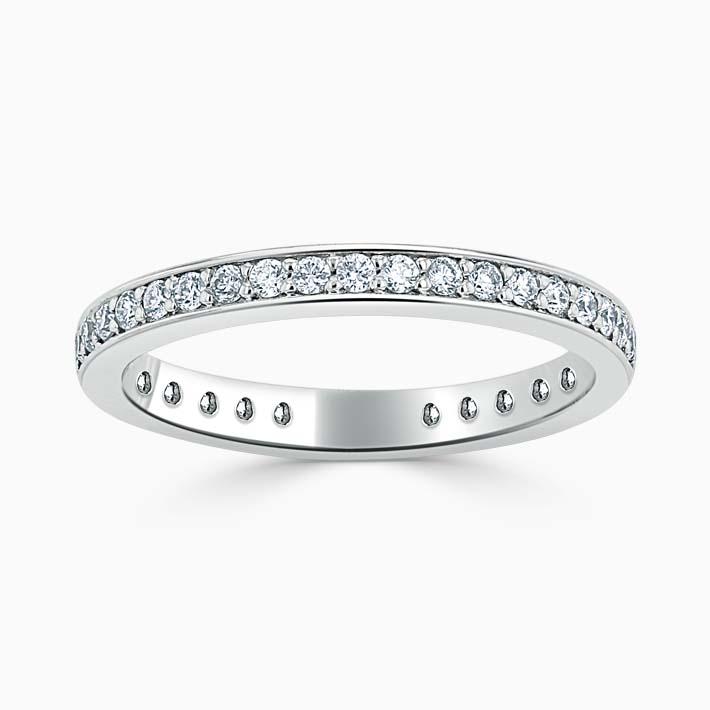 Platinum 2.25mm Round Brilliant Pavé Set Three Quarter Eternity Ring