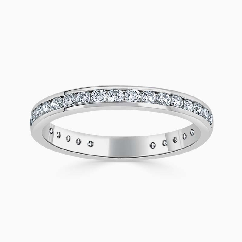 Platinum 2.50mm Round Brilliant Channel Set Three Quarter Eternity Ring