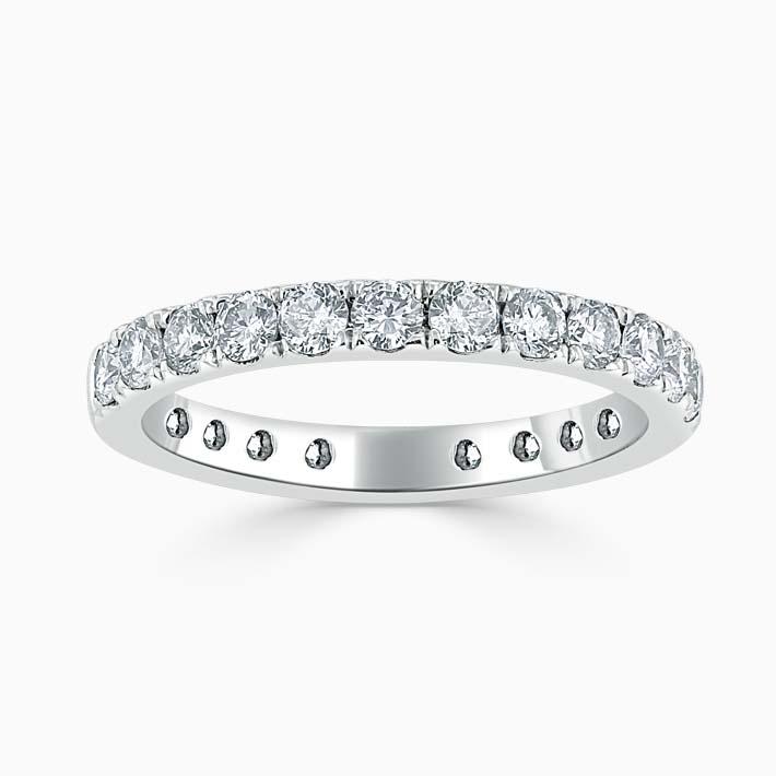 Platinum 2.75mm Round Brilliant Cutdown Set Three Quarter Eternity Ring