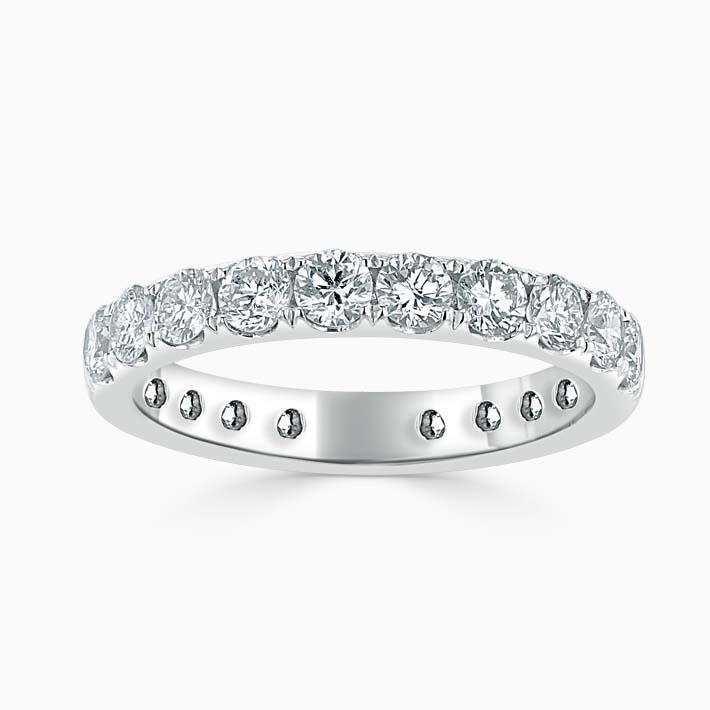 Platinum 3.00mm Round Brilliant Cutdown Set Three Quarter Eternity Ring