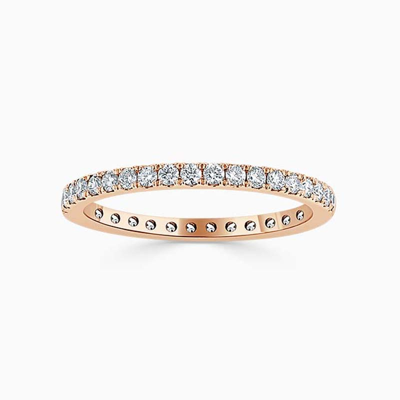 18ct Rose Gold 1.80mm Round Brilliant Cutdown Set Full Eternity Ring