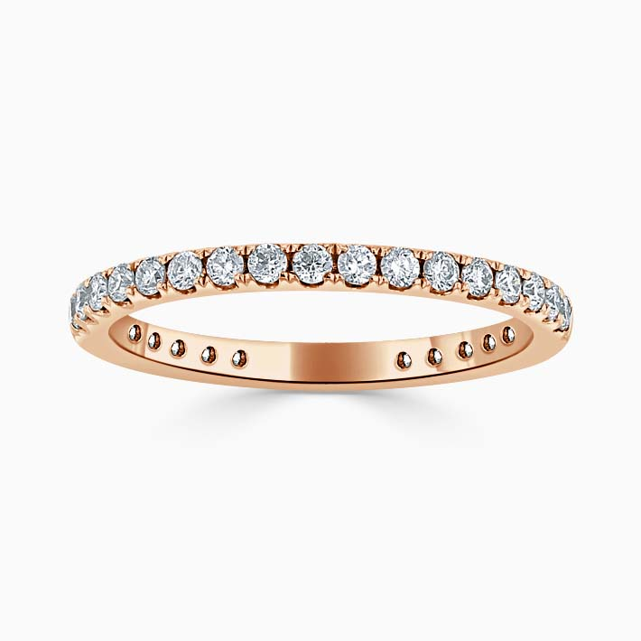 18ct Rose Gold 1.80mm Round Brilliant Cutdown Set Three Quarter Eternity Ring