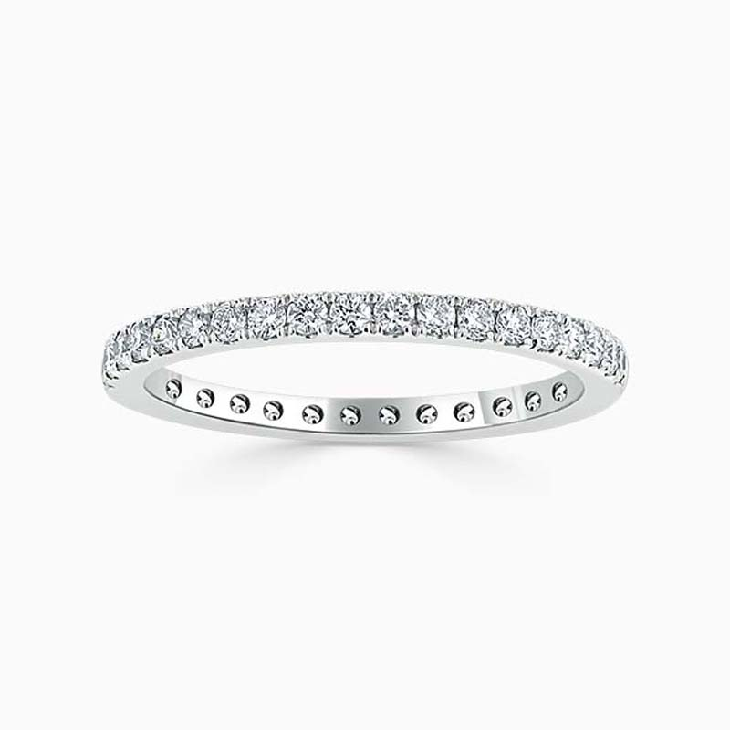 18ct White Gold 1.80mm Round Brilliant Cutdown Set Full Eternity Ring