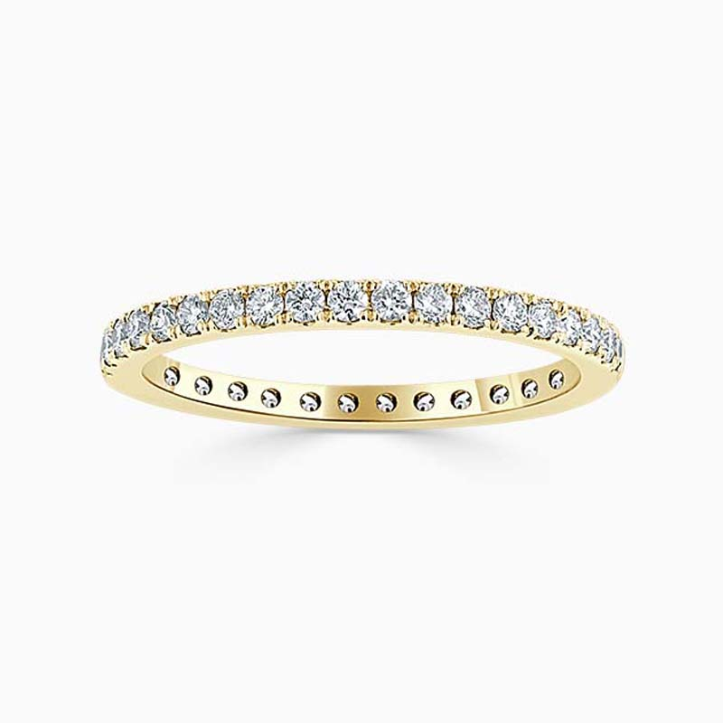 18ct Yellow Gold 1.80mm Round Brilliant Cutdown Set Full Eternity Ring
