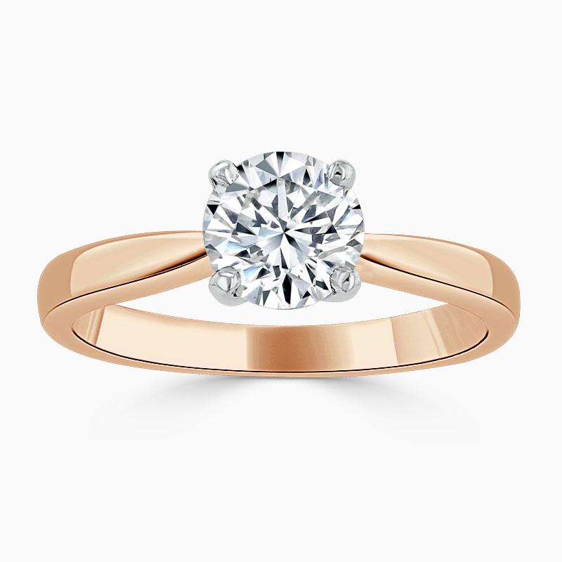 18ct Rose Gold Round Brilliant High Set Engagement Ring