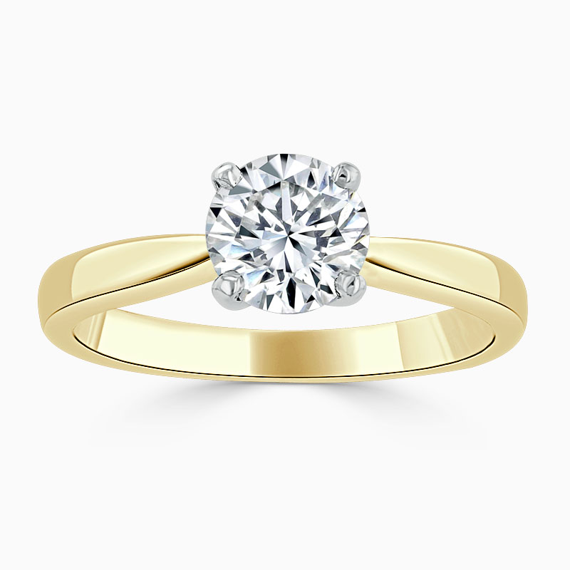 18ct Yellow Gold Round Brilliant High Set Engagement Ring