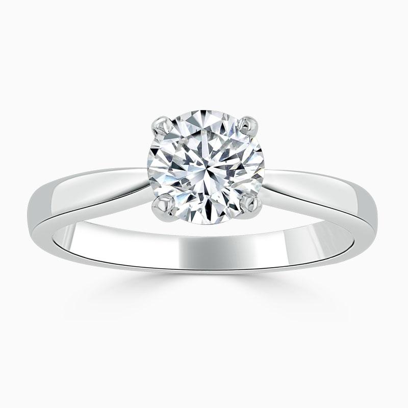 Platinum Round Brilliant High Set Engagement Ring