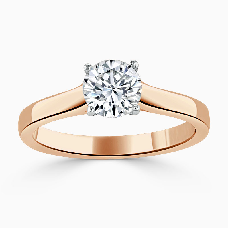 18ct Rose Gold Round Brilliant Openset Engagement Ring