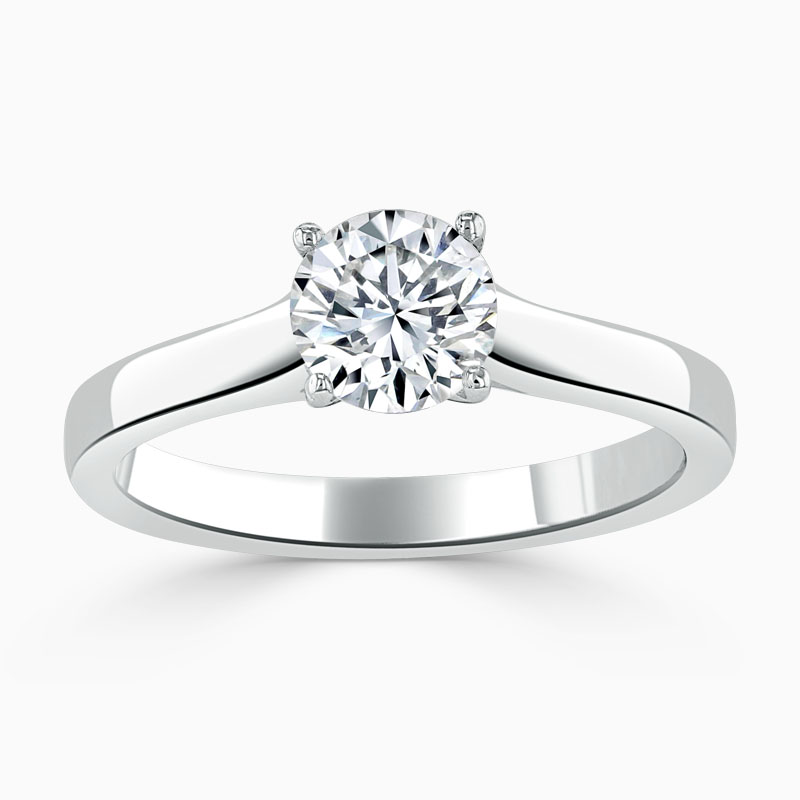 18ct White Gold Round Brilliant Openset Engagement Ring
