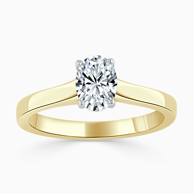 18ct Yellow Gold Oval Shape Openset Engagement Ring