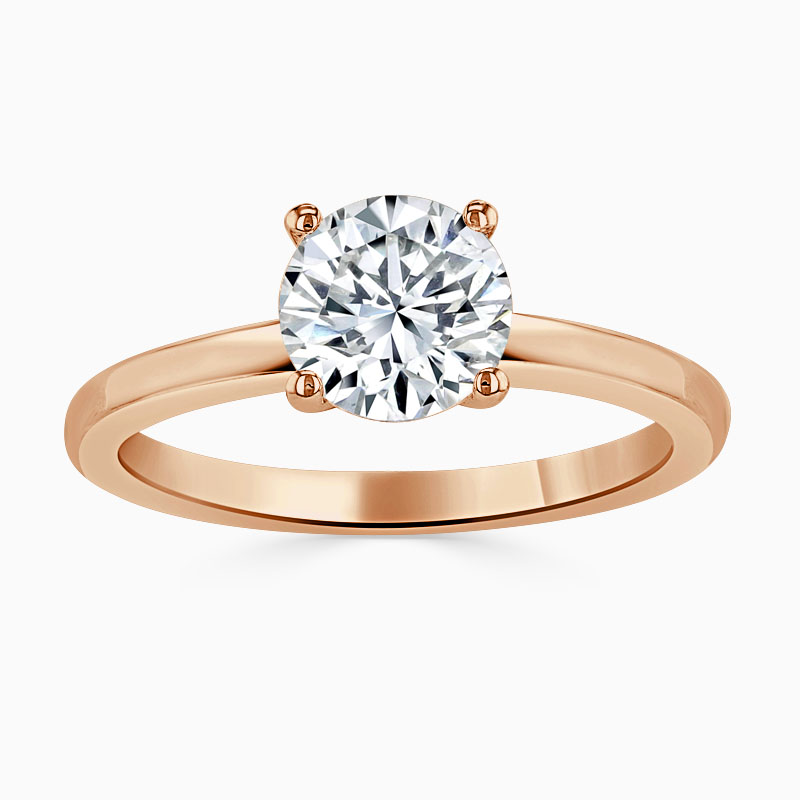 18ct Rose Gold Round Brilliant Simplicity Engagement Ring