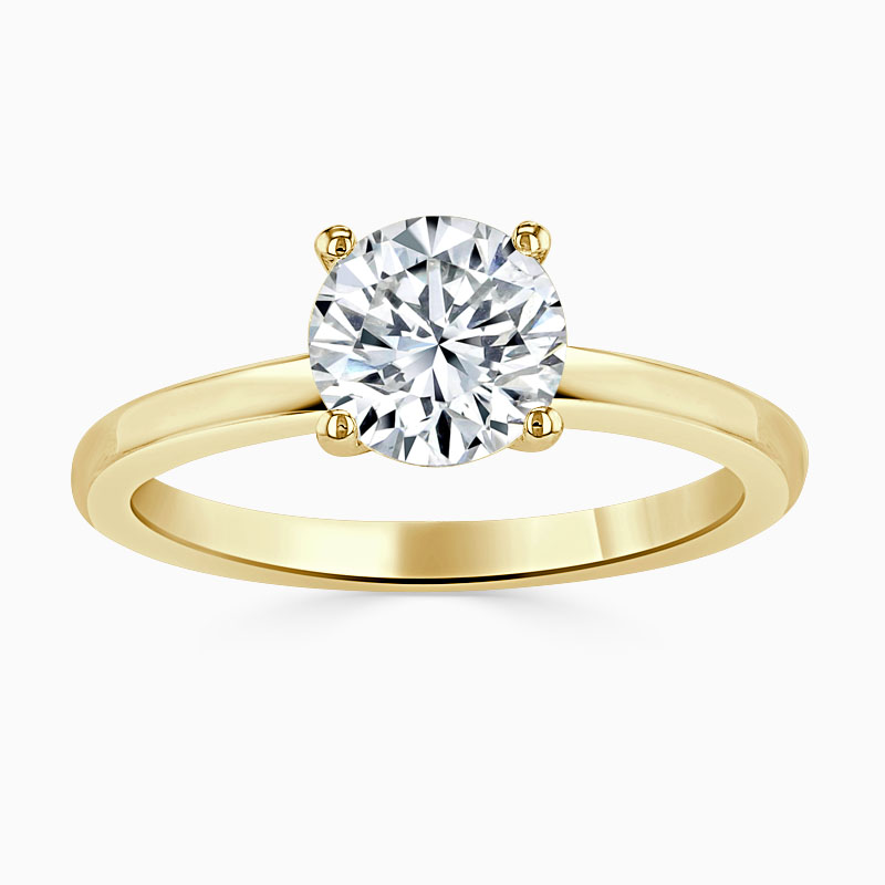 18ct Yellow Gold Round Brilliant Simplicity Engagement Ring