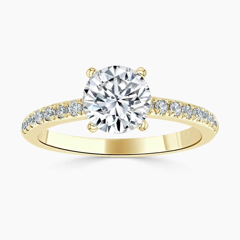 18ct Yellow Gold Round Brilliant Simplicity Cutdown Engagement Ring
