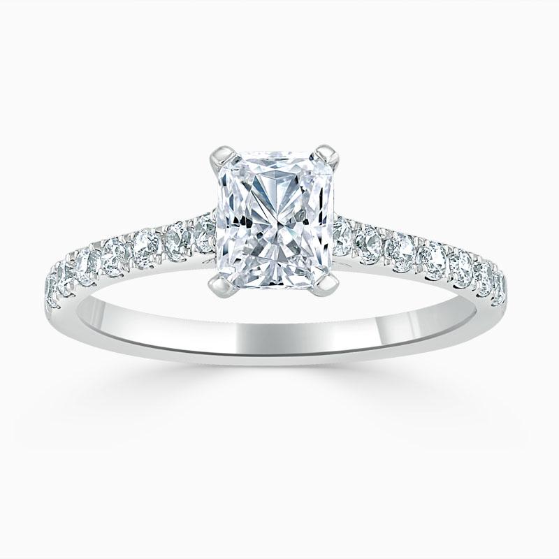 Platinum Radiant Cut Classic Wedfit Cutdown Engagement Ring