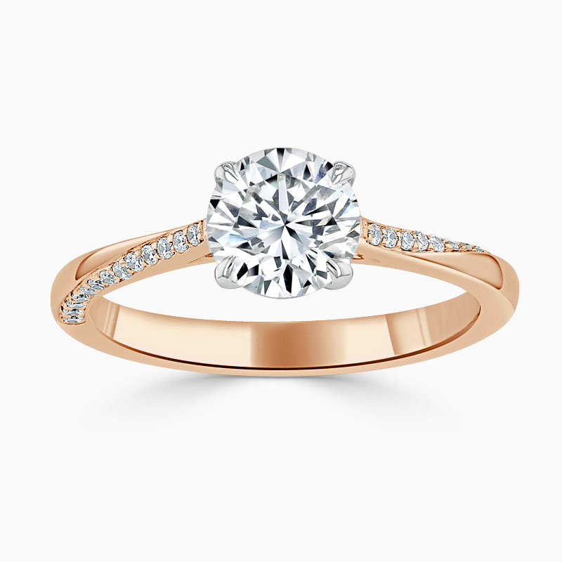 18ct Rose Gold Round Brilliant Vortex Engagement Ring