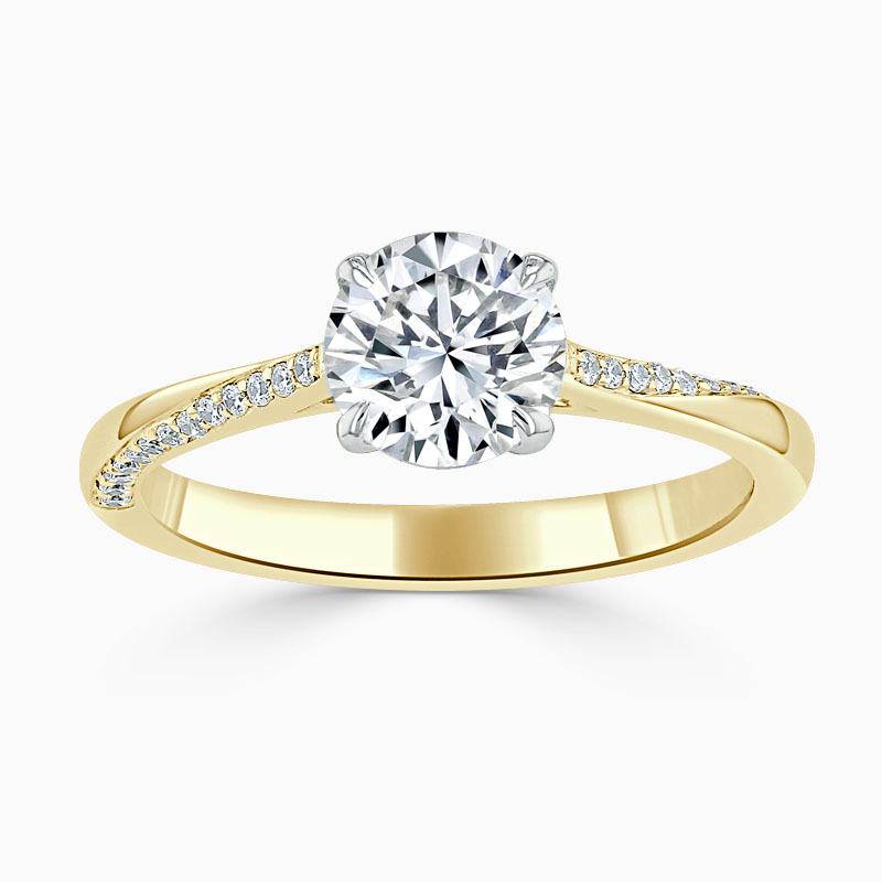 18ct Yellow Gold Round Brilliant Vortex Engagement Ring
