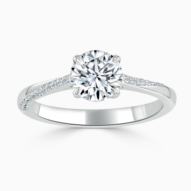 Platinum Round Brilliant Vortex Engagement Ring