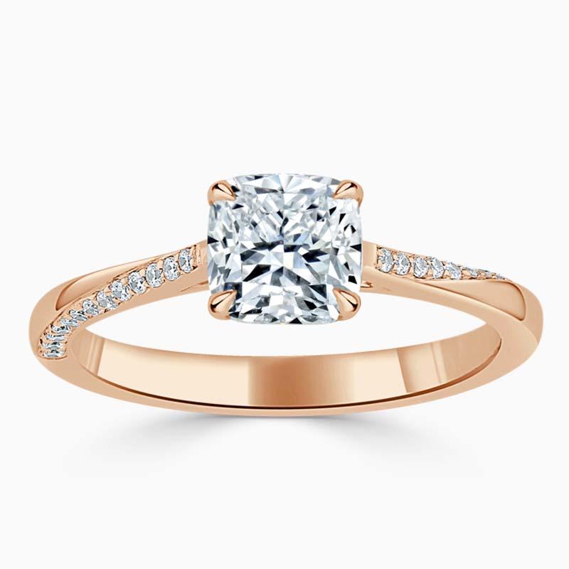 18ct Rose Gold Cushion Cut Vortex Engagement Ring
