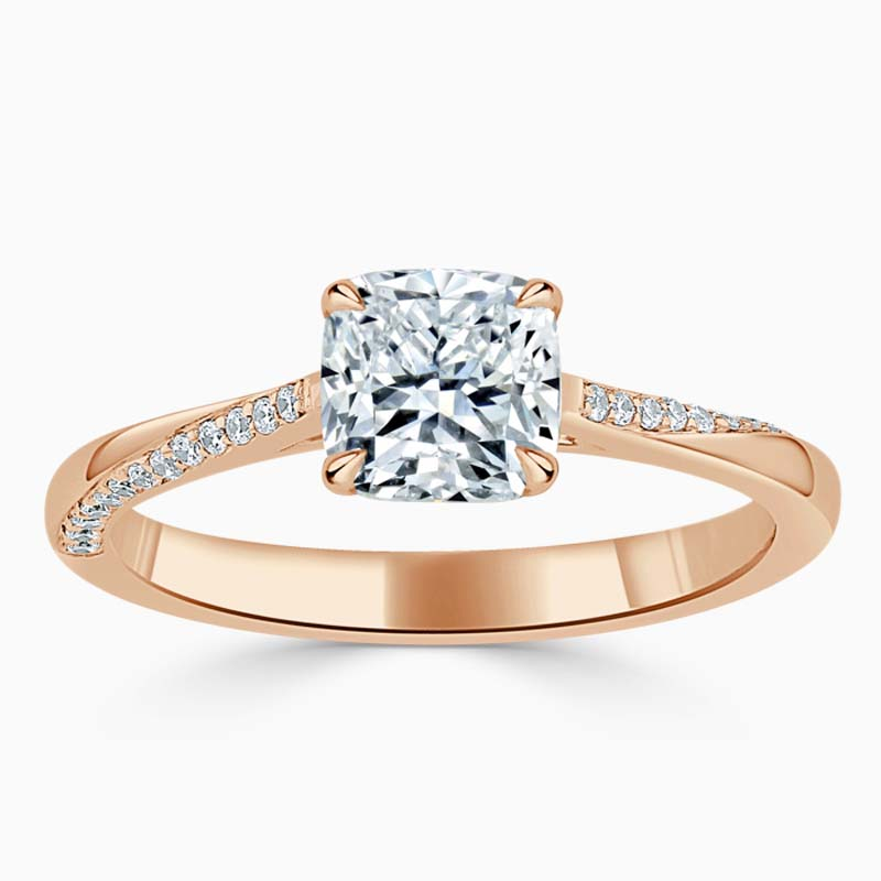 18ct Rose Gold Cushion Cut Vortex Engagement Ring