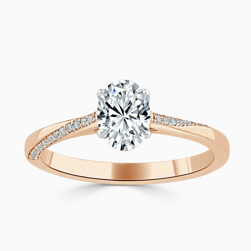 18ct Rose Gold Oval Shape Vortex Engagement Ring