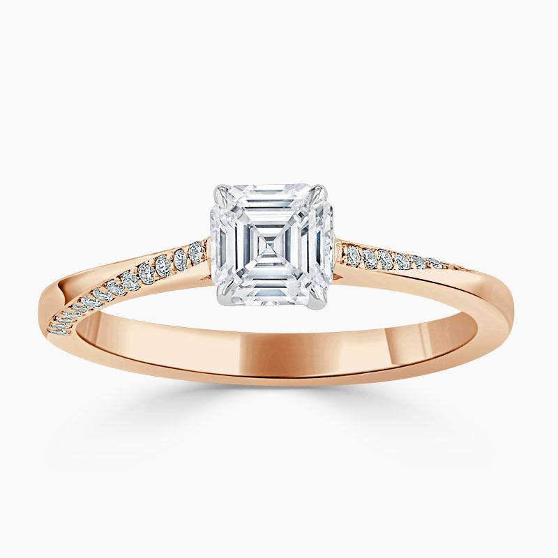18ct Rose Gold Asscher Cut Vortex Engagement Ring