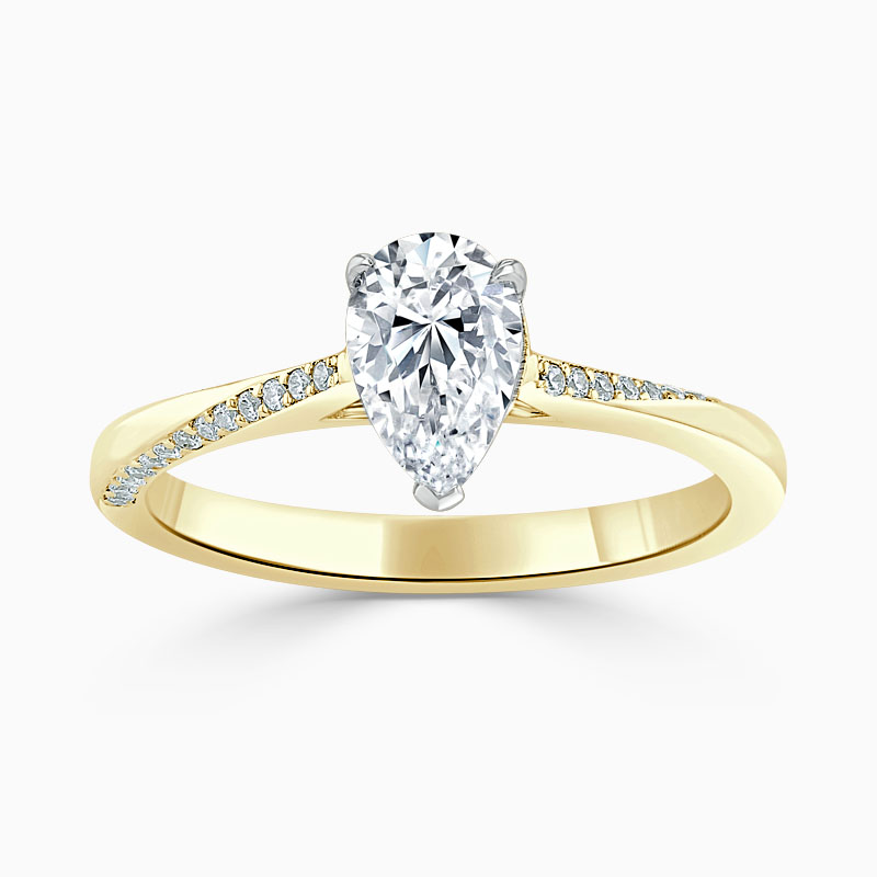 18ct Yellow Gold Pear Shape Vortex Engagement Ring