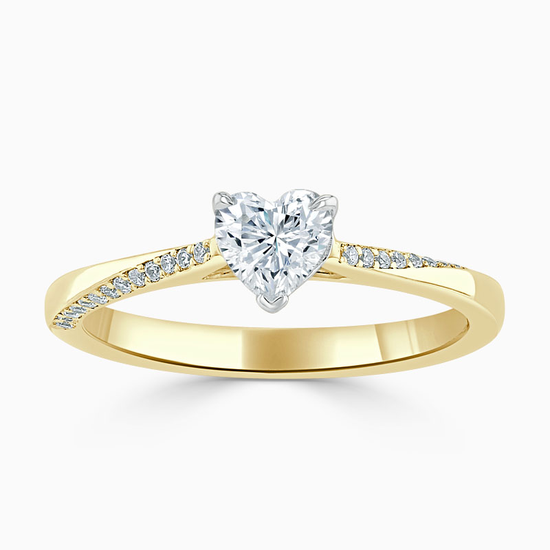 18ct Yellow Gold Heart Shape Vortex Engagement Ring