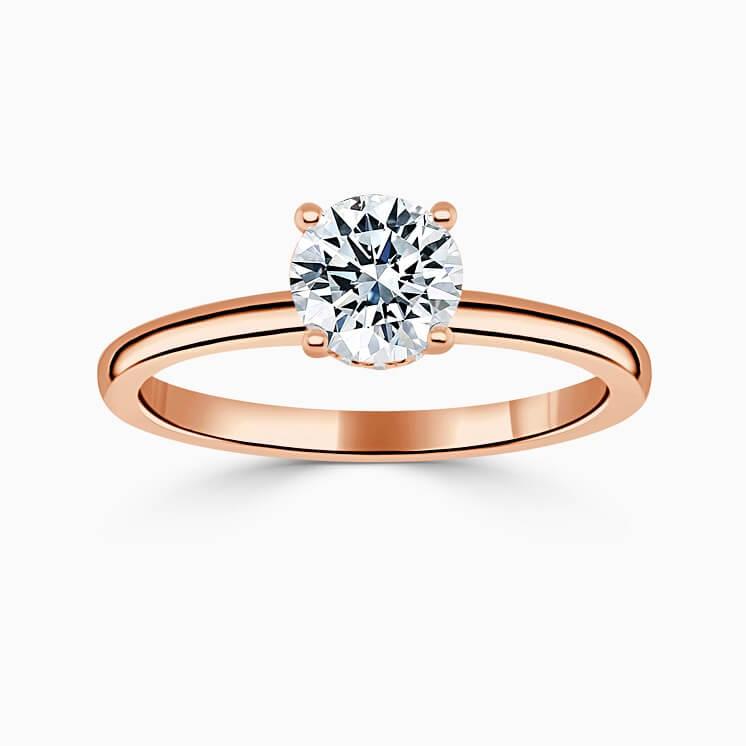 Platinum Emerald Cut Hidden Halo Engagement Ring