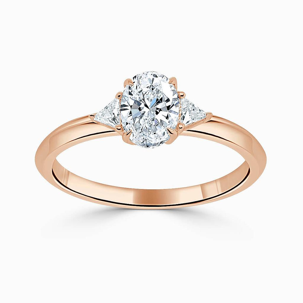 18ct Yellow Gold Pear Shape 3 Stone Double Edge With Trillions Engagement Ring