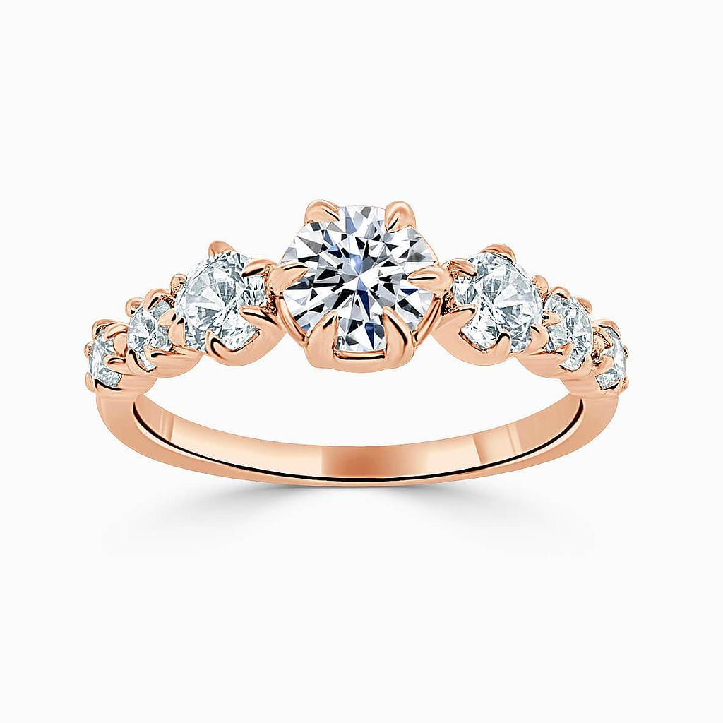 18ct Rose Gold Round Brilliant 7 Stone Engagement Ring