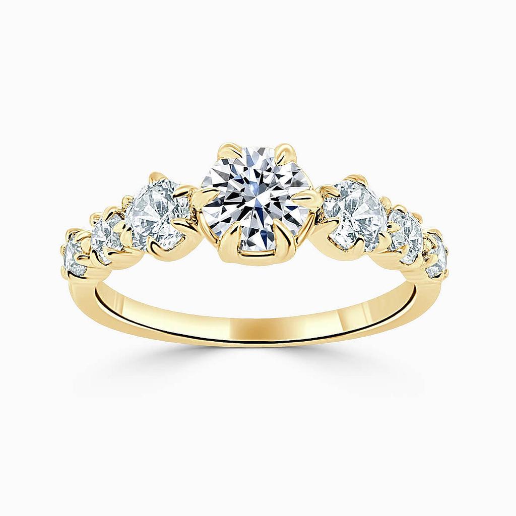 18ct Yellow Gold Round Brilliant 7 Stone Engagement Ring