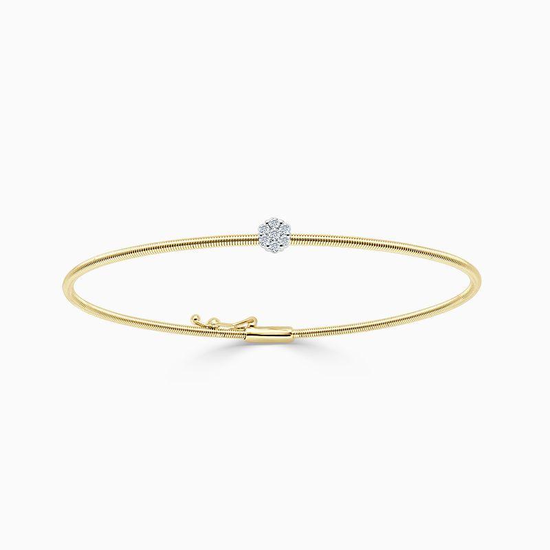 18ct Yellow Gold Florence Diamond Bangle