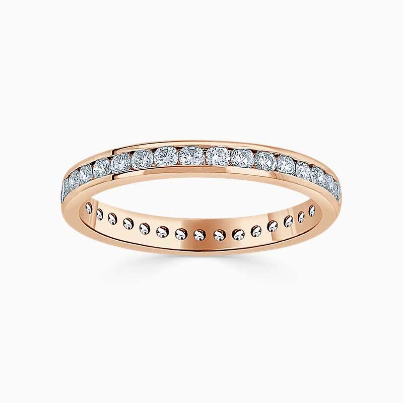Platinum 2.00mm Princess Cut Channel Set Half Eternity Ring