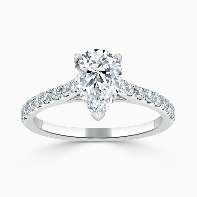 Platinum Pear Shape Classic Wedfit Cutdown Engagement Ring