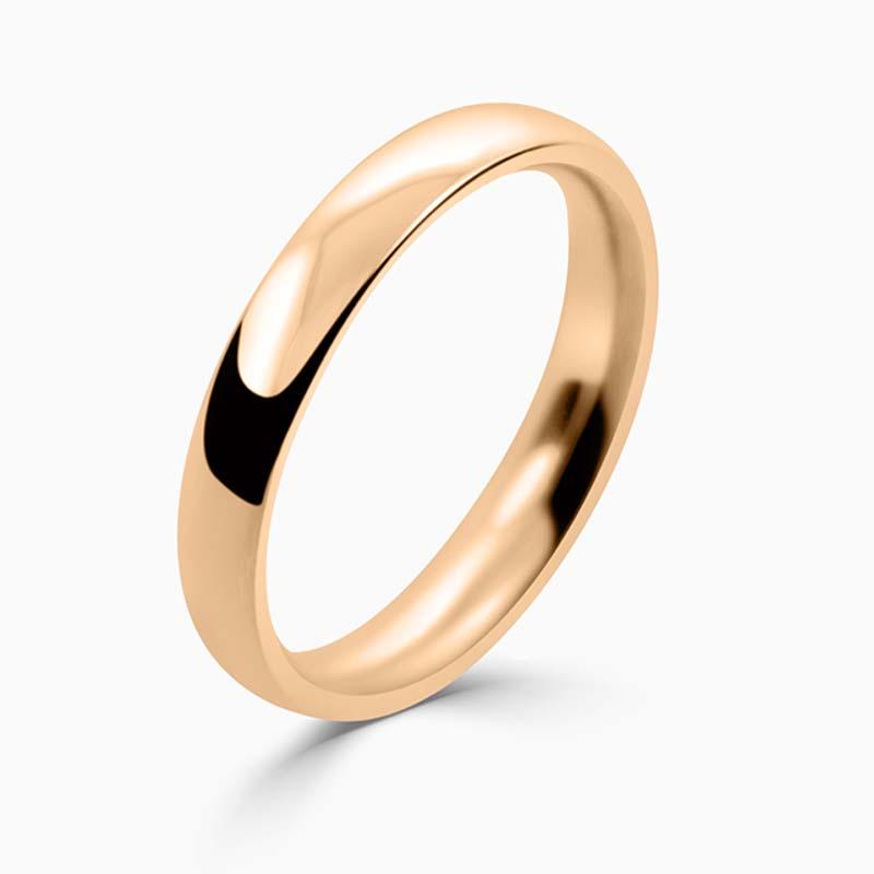 18ct Rose Gold 3mm Court Shaped Medium Weight Wedding Ring