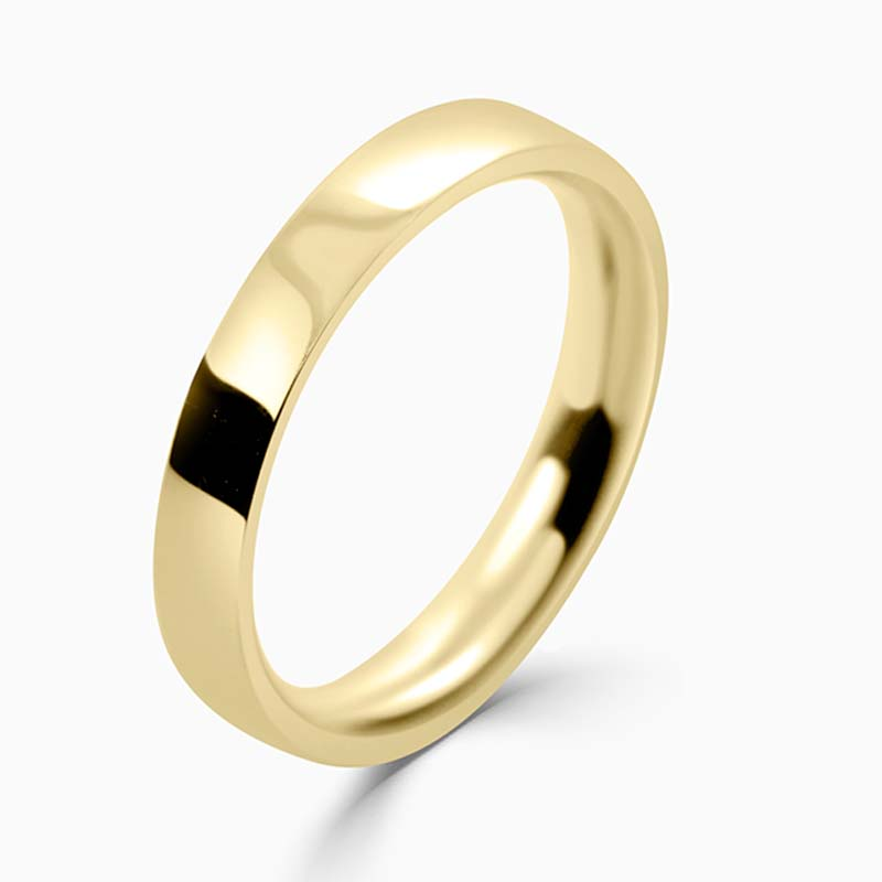 18ct Yellow Gold 3mm Flat Court Medium Weight Wedding Ring