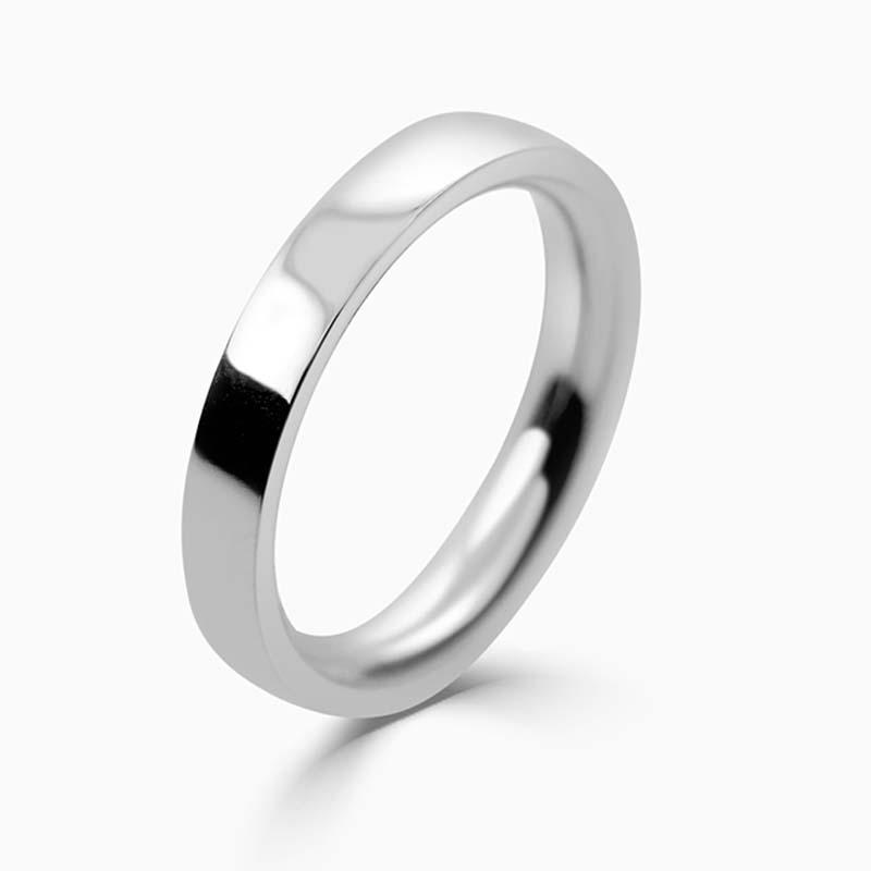 Platinum 3mm Flat Court Heavy Weight Wedding Ring