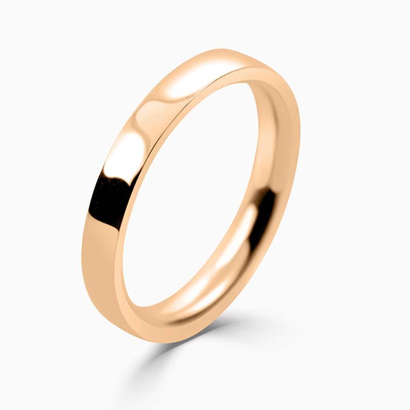 18ct Rose Gold 2.5mm Flat Court Medium Weight Wedding Ring