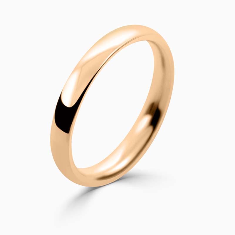 18ct Rose Gold 2.5mm Court Shaped Medium Weight Wedding Ring