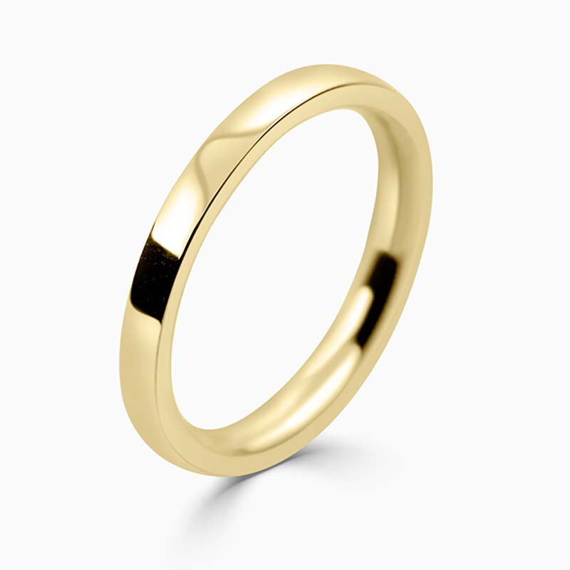 18ct Yellow Gold 2mm Flat Court Medium Weight Wedding Ring