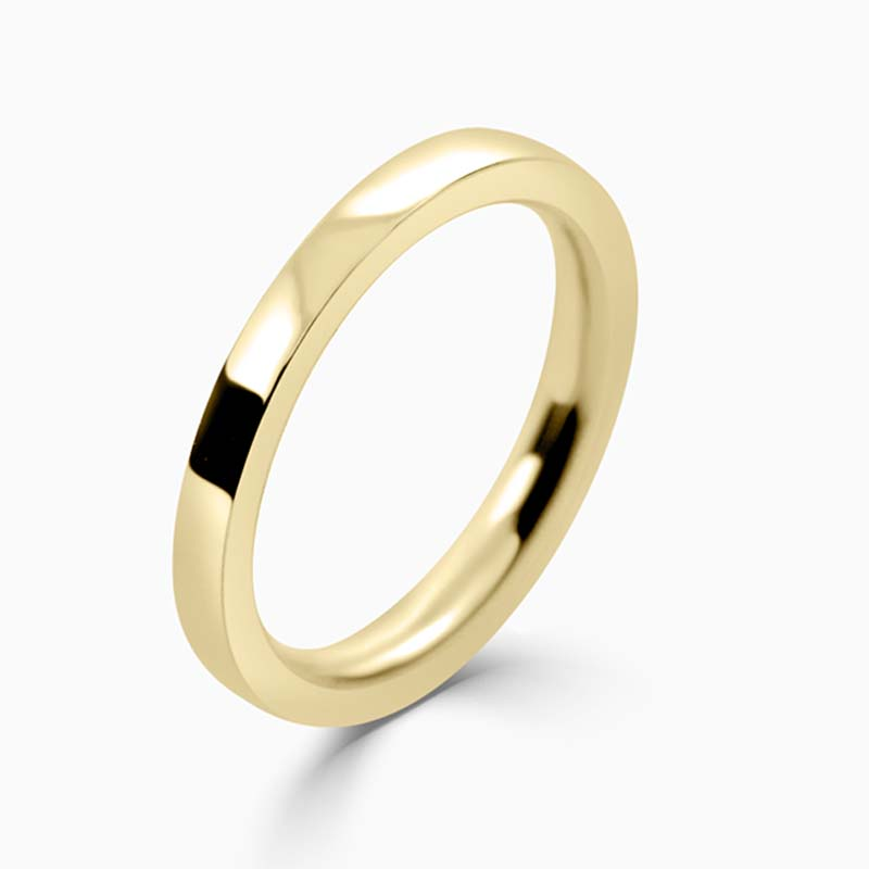 18ct Yellow Gold 2mm Flat Court Heavy Weight Wedding Ring