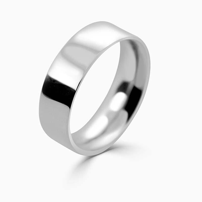 Platinum 7mm Flat Court Heavy Weight Wedding Ring