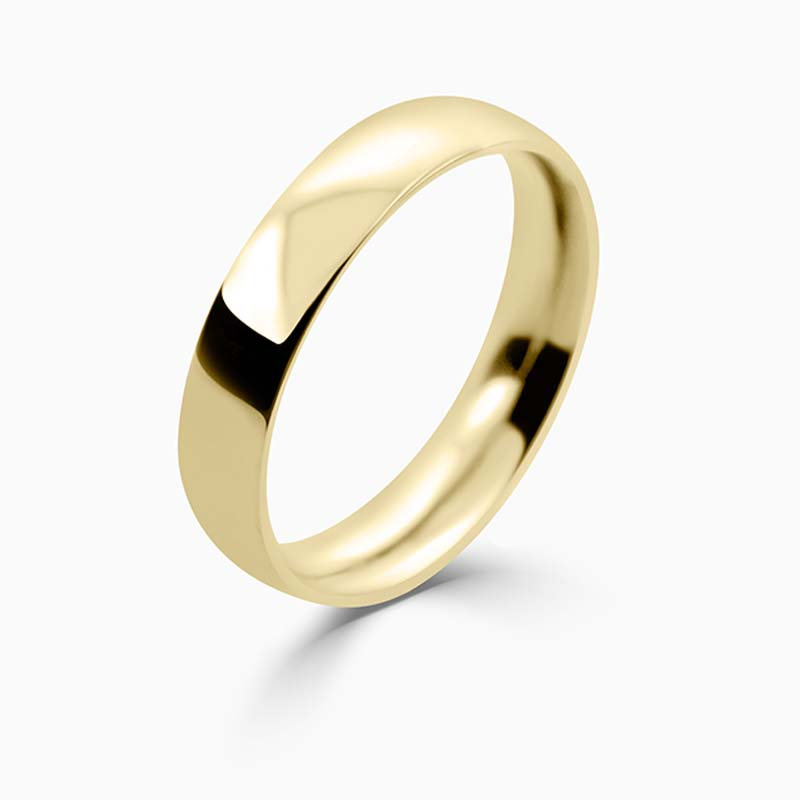 18ct Yellow Gold 4mm Court Shaped Medium Weight Wedding Ring