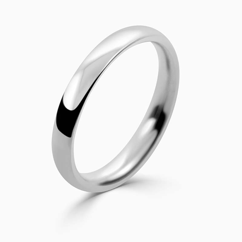 Palladium 2.5mm Court Shaped Medium Weight Wedding Ring