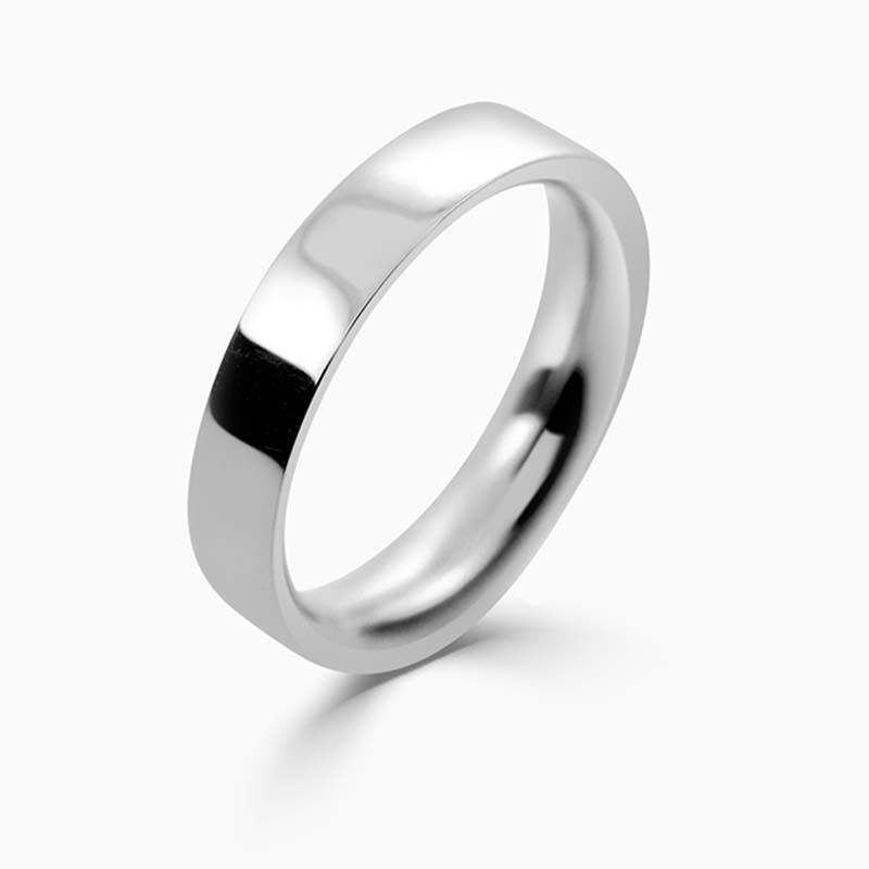 Palladium 4mm Flat Court Heavy Weight Wedding Ring