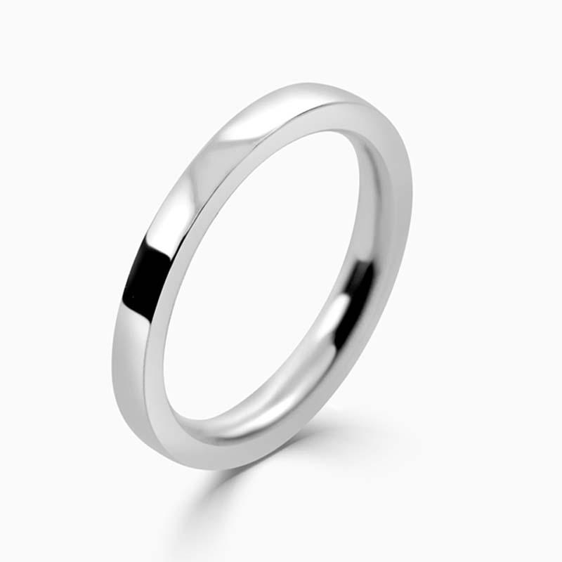 Platinum 2mm Flat Court Heavy Weight Wedding Ring