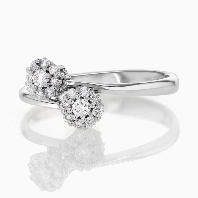 [PDR1845] Flower Crossover Ring
